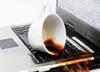 Кофе на клавиатуре