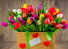 Коробка тюльпанов